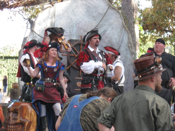 "Yes, tis a band of singing pirates, and yes, they ""did"" say Yo Ho Ho & A Bottle Of Rum!"