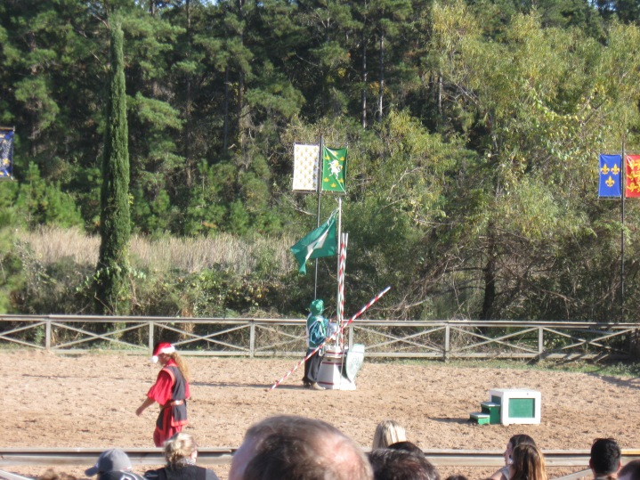 "The ""jousting"" arena where knights from Germany, France, Spain and Great Britain battled it out."