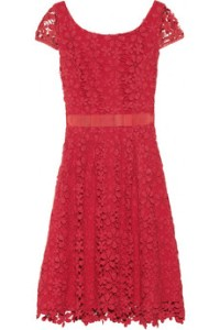Collette Dinnigan Red Lace Dress