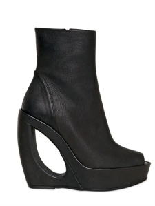Demeulemeester Black Wedge Boot