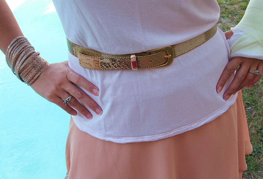 I am SO not a belt person but I adore this skinny thing.