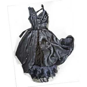 Silk, Chiffon, Tulle, Leather Dress