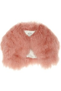 Skaist-Tayor Peach Mongolian Lamb Cropped Jacket