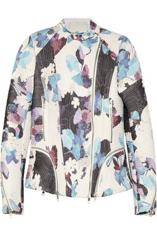 3.1 Philip Lim Floral Corded Silk Biket Jacket
