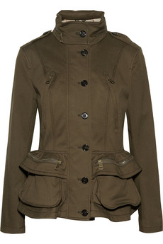 Burberry Brit Cotton-Blend Peplum Jacket