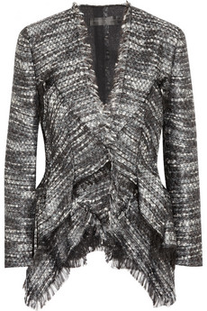 Donna Karan Metallic Boucle Peplum Jacket