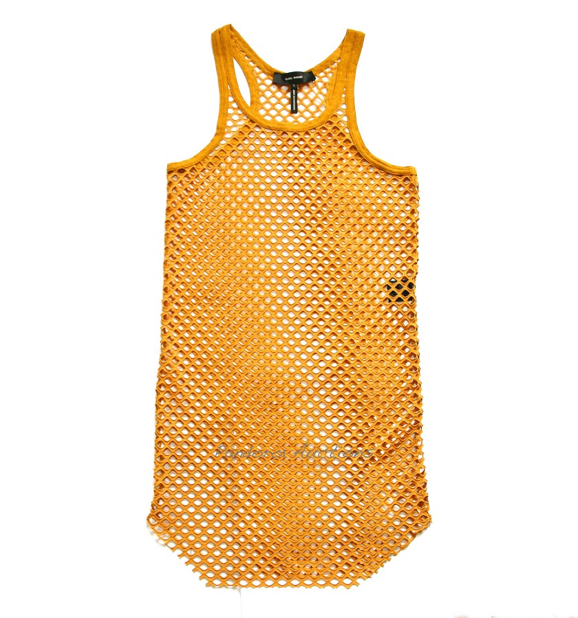 Isabel Marant Amos Pumpkin Mesh Tank Dress