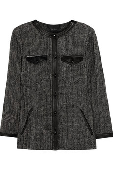 Isabel Marant Leather Trimmed Tweed Jacket