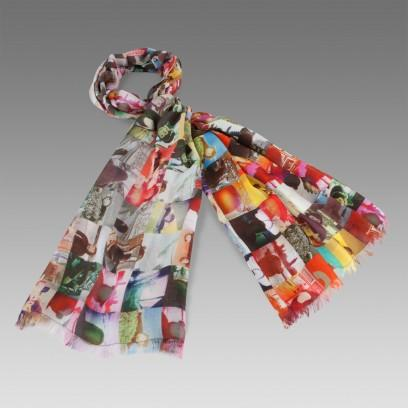 Paul Smith Mr Brown Printed Scarf