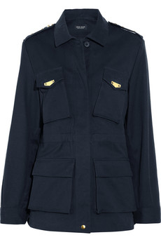 Sophie Hulme Gold-Plated Cotton-Drill Military Jacket