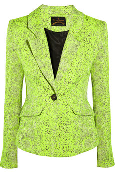 Vivienne Westwood Anglomania Acid Green Textured Jacquard Blazer