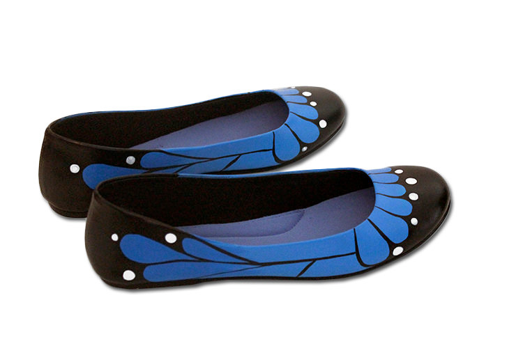 Blue Monarch Butterfly Flats