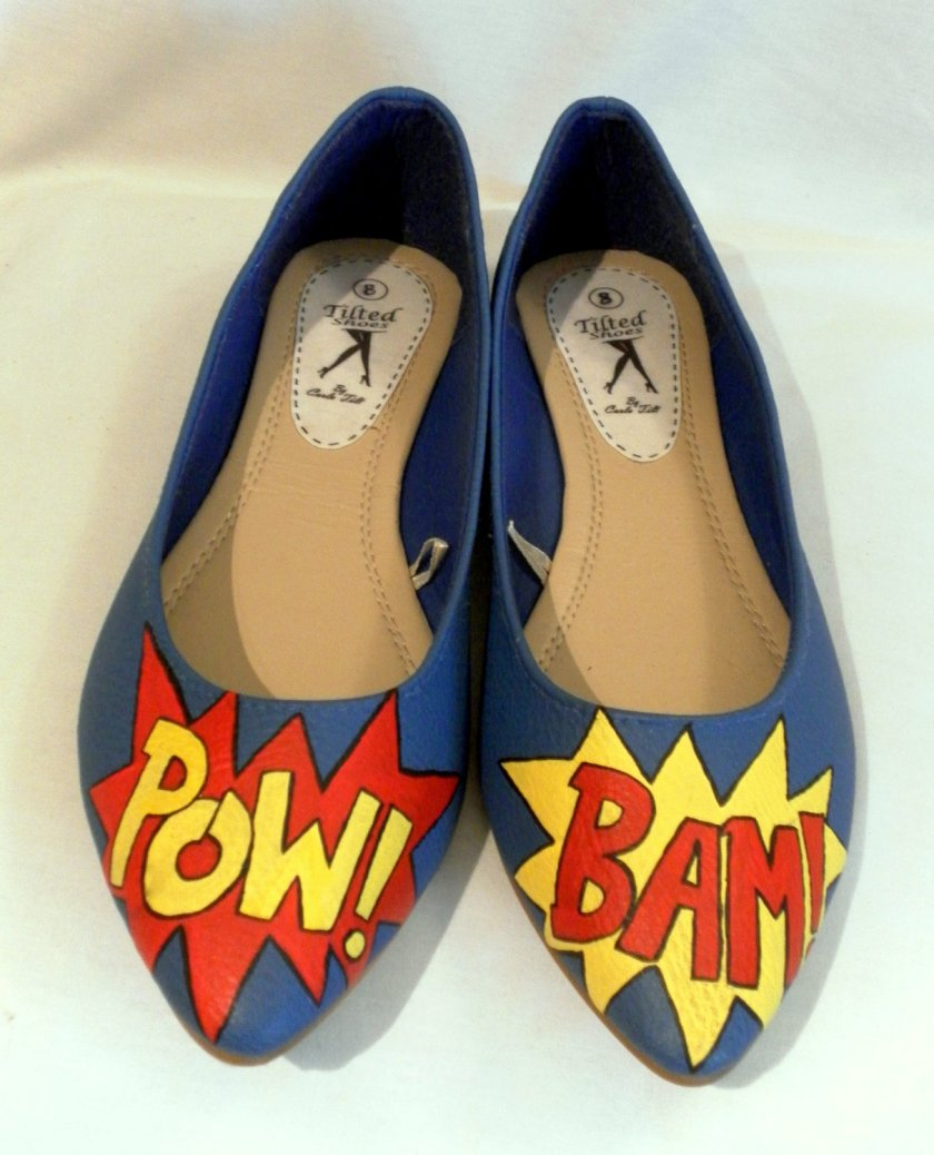 Hand-Painted POW BAM Flats