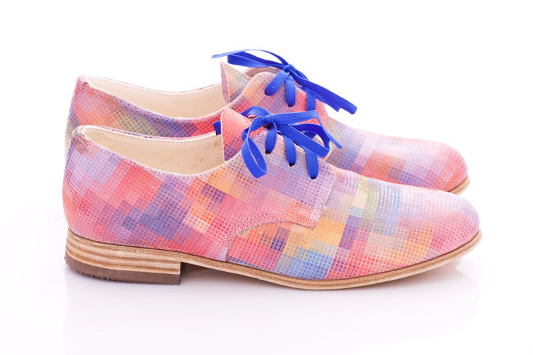 Pastel Pixel Leather Oxfords