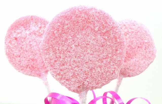 Pink Sugar Lollipops